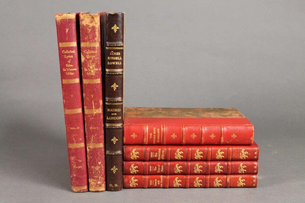 4 Books (7 Vols): Edna St. Vincent Millay, others.