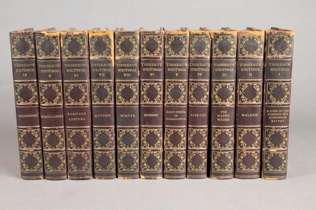 THE WRITINGS OF HENRY DAVID THOREAU. 11 Vols.