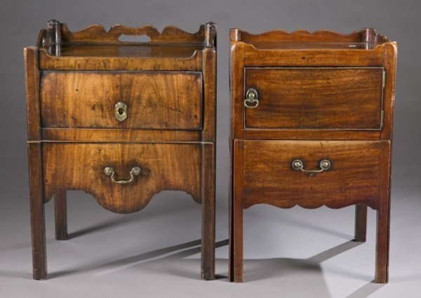 Two George III nightstands, late 18th c.