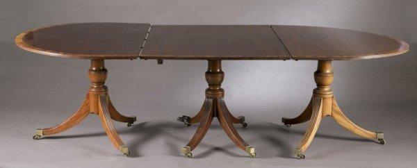 Regency style pedestal table, 19th c.