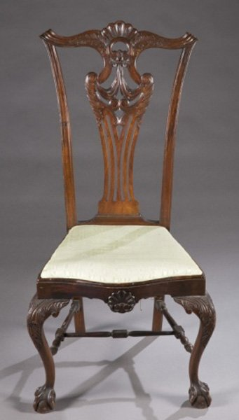 Pair of Chippendale chairs, late 18th c.