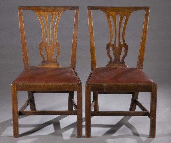 Group of 12 Chippendale chairs, late 18th c.