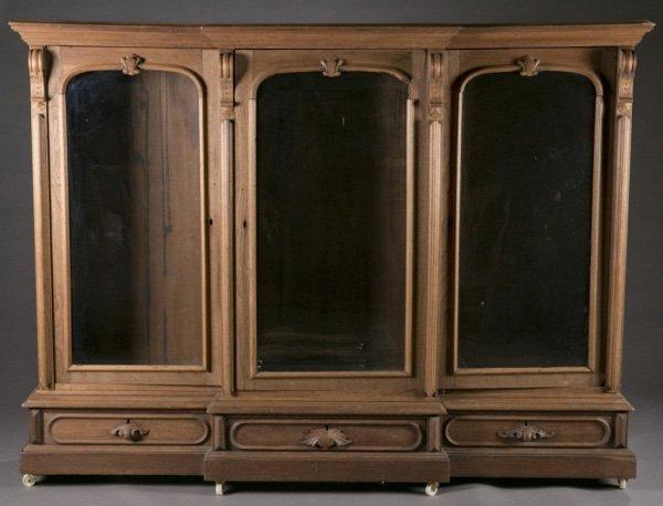 Renaissance Revival walnut bookcase, 19th c.