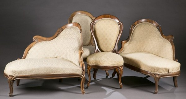 JH Belter attributed 9 pc. parlor set, 19th c.