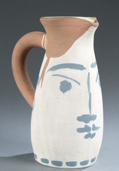 Picasso Madoura pottery painted jug, 52/300
