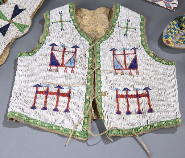 Northern Plains beaded child's vest.