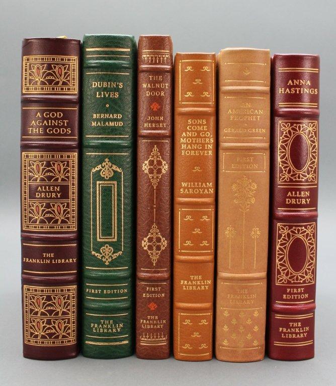 6 Books: Franklin Library. Saroyan, Malamud, Drury