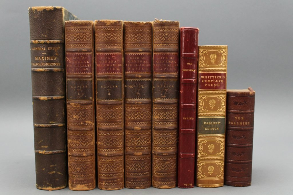 8 Vols incl: THE LIFE... NAPIER, 4 Vols, 1857.