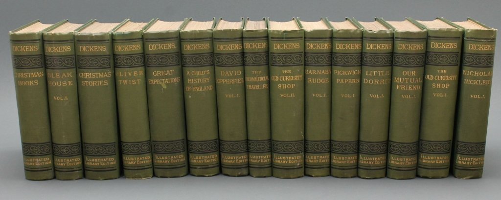 Dickens [Works]. 30 Vols. Signed by 3 relatives.