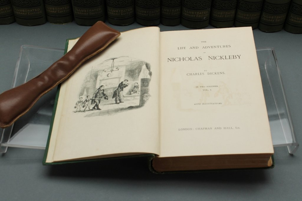 Dickens [Works]. 30 Vols. Signed by 3 relatives. - 2