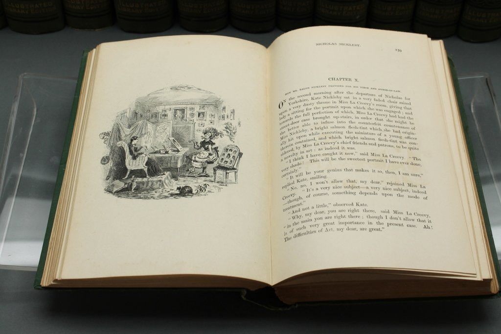 Dickens [Works]. 30 Vols. Signed by 3 relatives. - 3