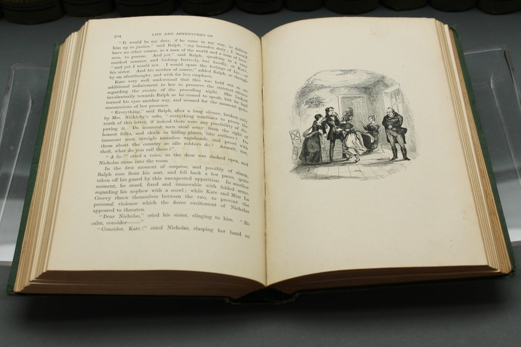 Dickens [Works]. 30 Vols. Signed by 3 relatives. - 4