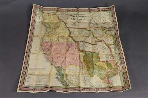 A New Map Of Texas Oregon And California 1846