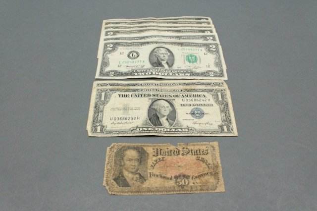 Lot of US paper currency including