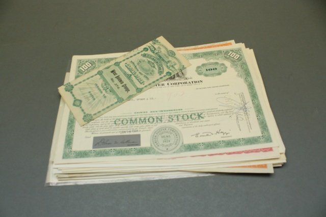 Lot of Canceled Bonds and Stock Certs.