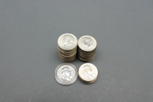 Lot of Silver and Clad half dollars including