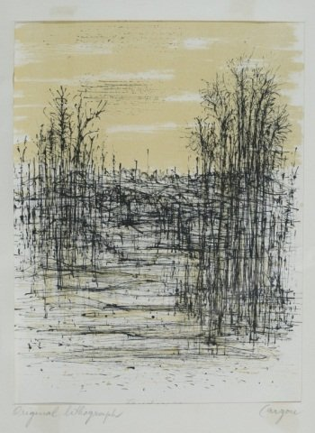 "Signed Jean Carzou Lithograph, ""Paysage"""