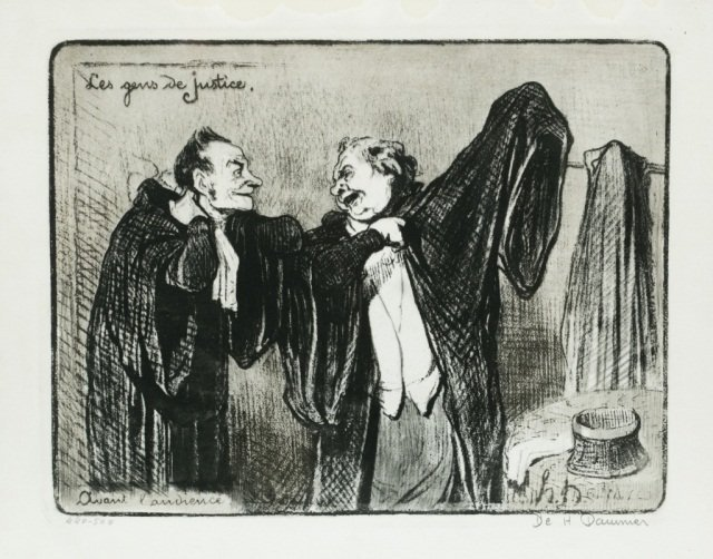 19th Century Honore Daumier Signed Engraving