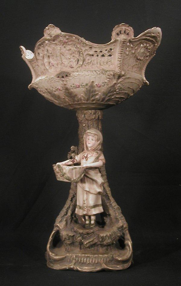 2: Austrian porcelain compote on figural base