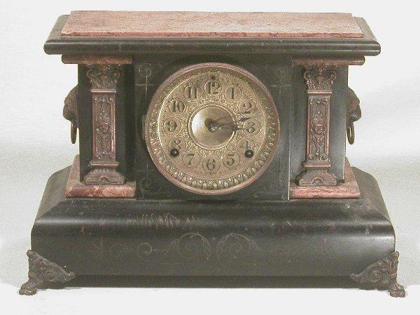 6: Seth Thomas Admantine mantel clock with fa