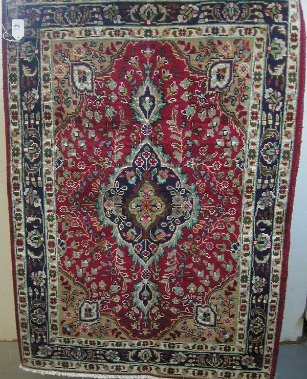 12: Persian Tabriz 100% wool hand woven carpe