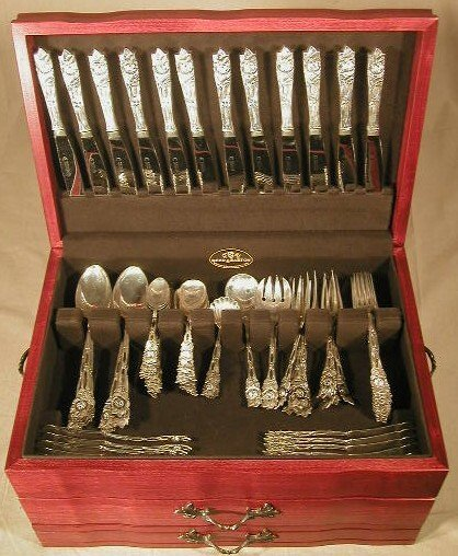 115: German .800 silver 187 piece custom made