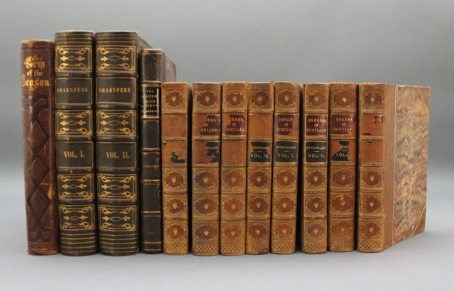 12 Vols incl: Strickland. LIVES OF THE QUEENS...