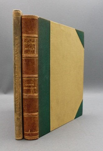 2 Books incl: Chevellier. CLOCHEMERLE. 1950.