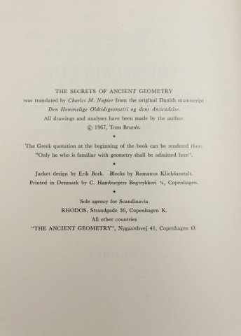 Brunes. THE SECRETS OF ANCIENT GEOMETRY... 2 Vols. - 3