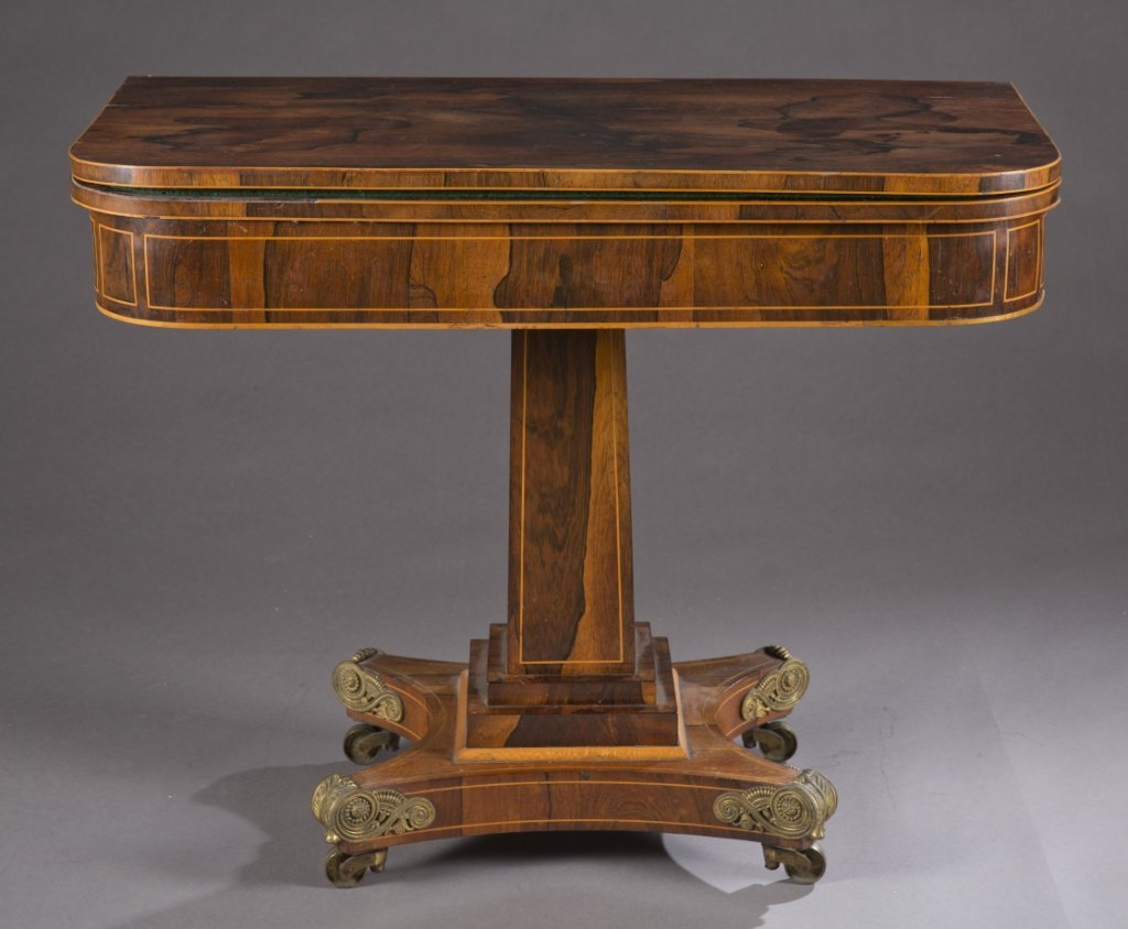 19th Century empire rosewood game table.