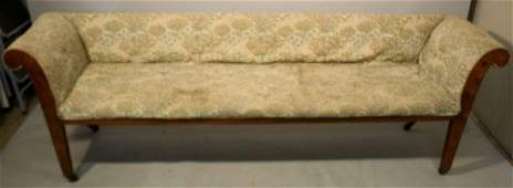 American country Empire settee, c.1830s-40s