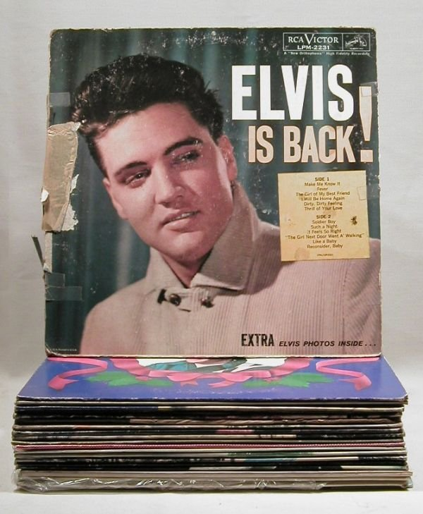 463: Collection of 20 misc Elvis records.