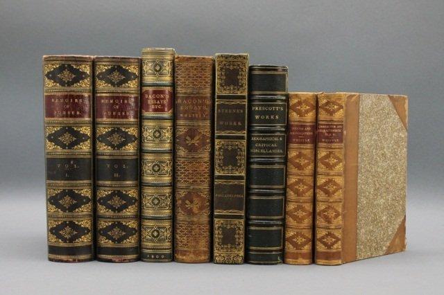 8 Vols: Prescott, Bunsen, Bacon, Sterne, Whipple.