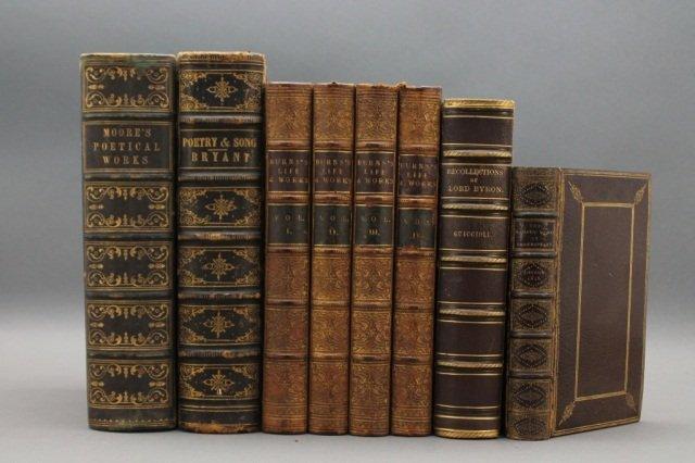 8 Vols: Burns, Bryant, Shakespeare, Moore, Byron.