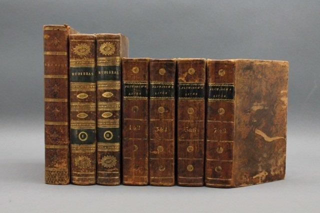 7 Vols: PLUTARCH'S LIVES + MARMION + HUDIBRAS.