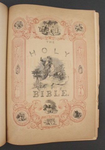 THE ILLUMINATED BIBLE. Harper & Brothers, 1846. - 5
