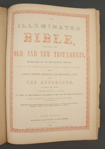 THE ILLUMINATED BIBLE. Harper & Brothers, 1846. - 6