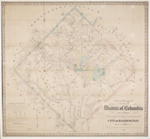 Topographical Map of the Original District... 1862