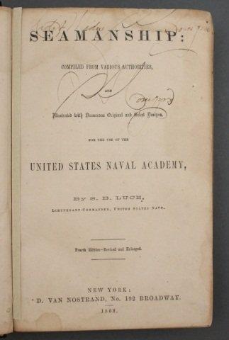 SEAMANSHIP. Signed by 1st black midshipman. - 2