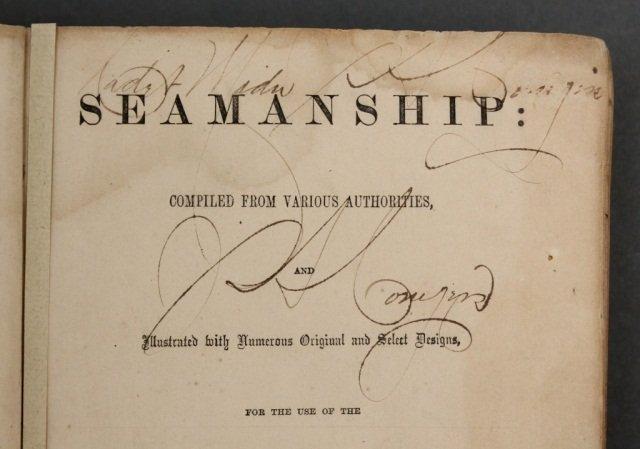 SEAMANSHIP. Signed by 1st black midshipman. - 3