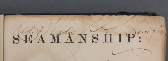 SEAMANSHIP. Signed by 1st black midshipman. - 5