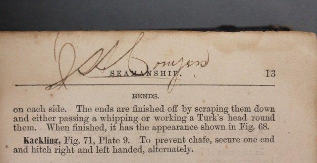 SEAMANSHIP. Signed by 1st black midshipman. - 8