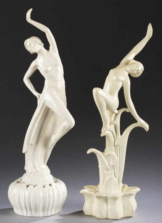 A Cowan Pottery group of  figures,  Debutante and