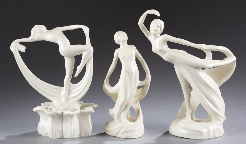 A Cowan Pottery group of  figures, Scarf Dancer,