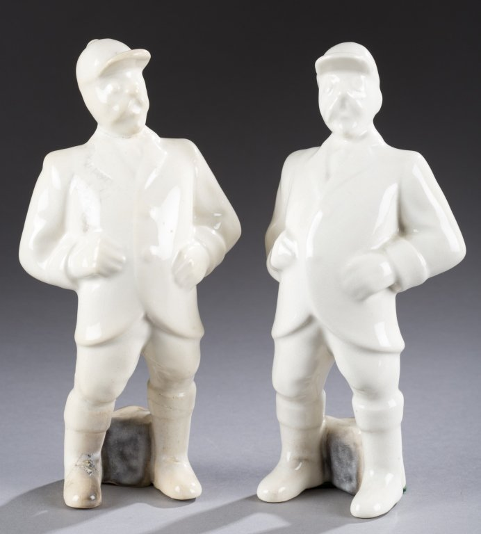 A Cowan Pottery group of  two gentleman figures  from
