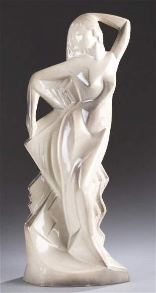 A Cowan Pottery Burlesque figure by Waylande Gregory.