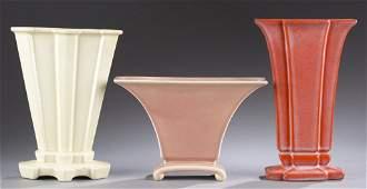 A Cowan Pottery group of three vases Vase V852