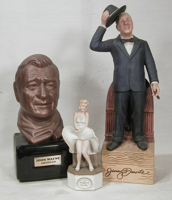 614: Famous Hollywood Faces Decanters.