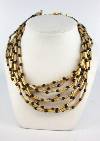 Elena Cantacuzene multi-strand necklace.