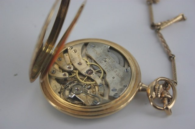 Henry Birks and Sons Limited gold pocket watch.
